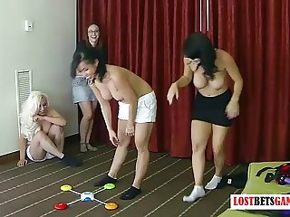 4 girls play a speed memory game, losers must strip