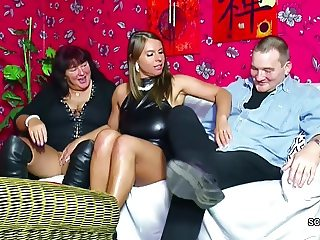 Old German Couple Seduce Big Tit Teen to Fuck in Threesome