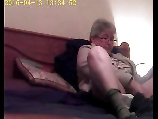 Unaware Wife Masturbating on Hidden Cam