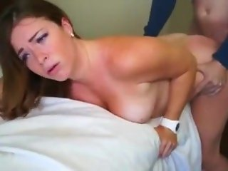 Wife with hubby on phone fucking stranger