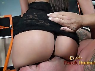 Angelica Domme gives a guy an ass smothering facesitting