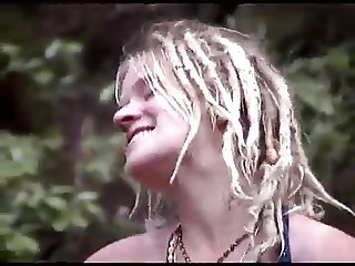 naked hippies sing outdoor