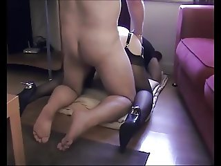 blonde in heels fucked from behind by stranger
