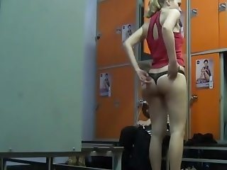 undressing changing room voyeur hidden panties