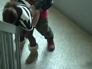 AsianSexPorno.Com - Chinese couple having sex in public staircase