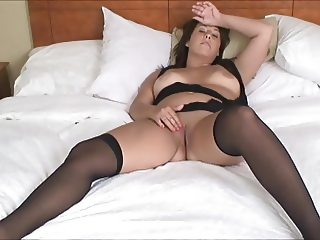 Chubby slut masturbating to orgasm