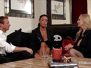 Blonde Milf Julia Ann & GF Gagged and Fucked!