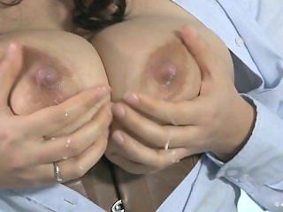 Steffi Huge Lactating Breasts Milk Pump