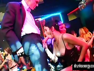 Sexual pornstars fucking at casino party