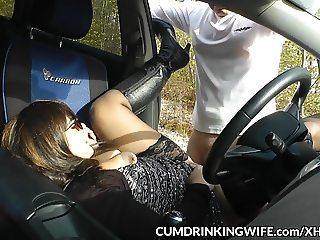 Marion's brand new car sex dogging adventures