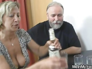 Old dad nailing my slutty gf