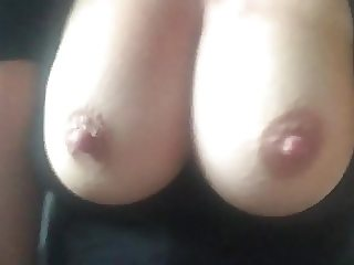 Tits bouncing while I fuck myself with my toy