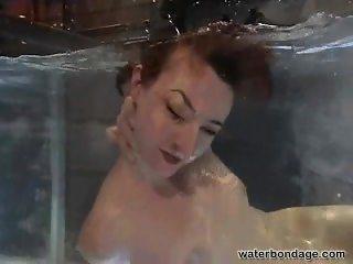 Redhead slave DBSM Fetish Water Torture Bondage Play