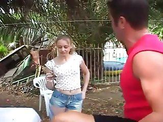 SB3 Teen Babysitter Gets A Good Fuck In The Sun !