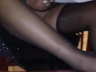 Wife play with sextoy in restaurent