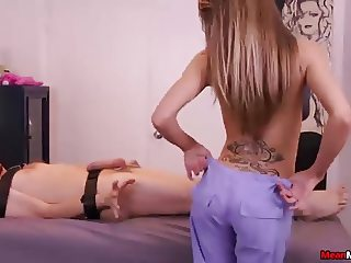 Teen mistress handjob