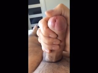 Foreskin uncut morning masturbation jerk off cumshot