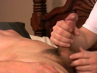 Man helps boy to cum