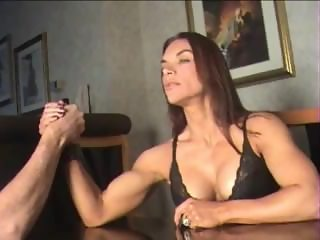 Tina Jo arm wrestling