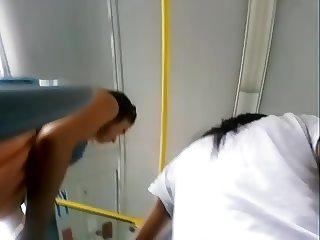 upskirt in bus 3