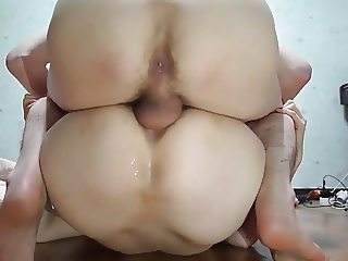 Korean hairy cunt gets dicked deep