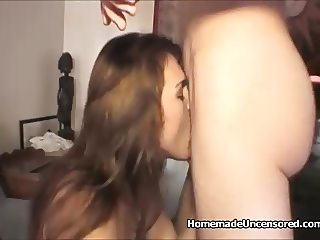 Amateur couple homemade sex tape recording