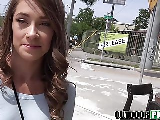 Kirsten Lee gets fucked in public for a little cash prize