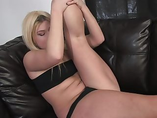 Young blonde likes to masturbate with toys