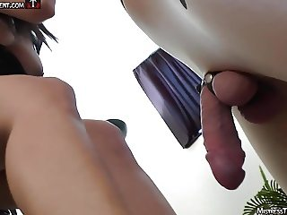 Mistress Tangent crushes cock and busts balls