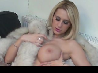 british blonde naked in fur