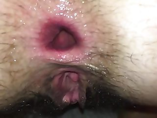 Wife anal GAPE farting