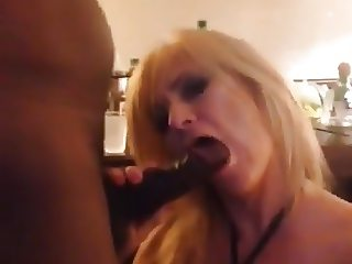 Blonde Cuck Wife Sucks BBC - Hubby Films