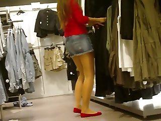 Nice Girl with Sexy Nylon Legs