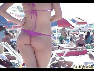Bikini Girls Cameltoe Beach voyeur HD Video
