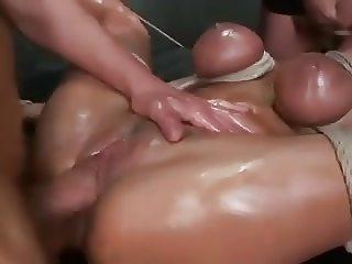 Brutal BDSM DP gangbang