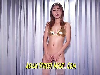 Bangkok Golden Lycra Gobbles Stairwell Slut
