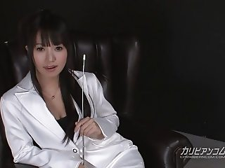 shaved teacher plays rides dildo deep inside