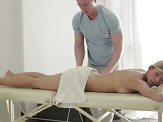 Blonde Gets Massaged, Fucked And Facial