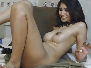 Hot MILF and her Dildo Fuck Machine