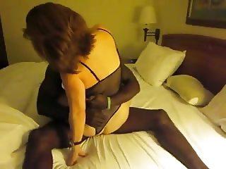 Classic brunette wife interacial cuckold