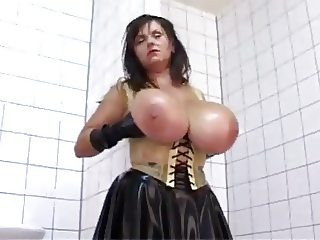 Latex Milf Milena Huge Natural Tits