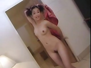 Sexy Asian happy strip dance