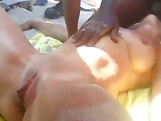 Nude Beach - IR Public Sucking & Squirting