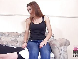 SMOTHERED BY NIKKIS JEAN CLAD ASS SMOTHERING FACE SITTING