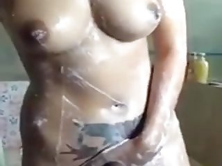 Thai girl take a shower