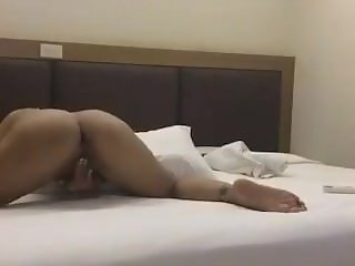 Thai girl masturbating alone in hotel