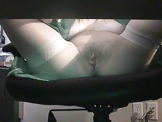 Under Desk Masturbation