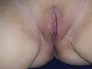 Sarah's pussy filled with cum