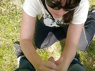 HJ BJ  on the meadow by the forest