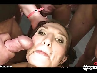 German Goo Girls - Horny MILF extremely thirsty cum lover